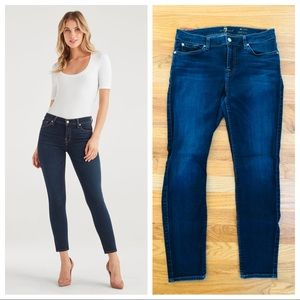 $169 7 FOR ALL MANKIND Ankle Skinny Jeans Mid-Rise